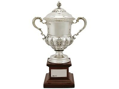 Sterling Silver Presentation Cup and Cover - Antique George V (1932)
