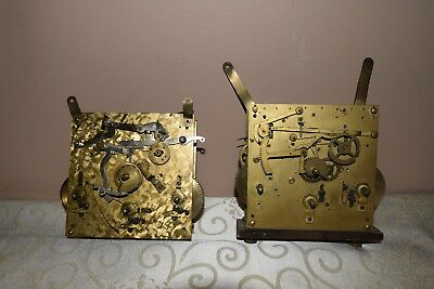 Two Clock Movements Mantel and Wall Clocks - Spares Or Repairs.