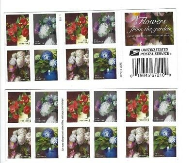 2017 Scott 5237-5240 FLOWERS FROM THE GARDEN  Book of 20 Forever Stamps MNH