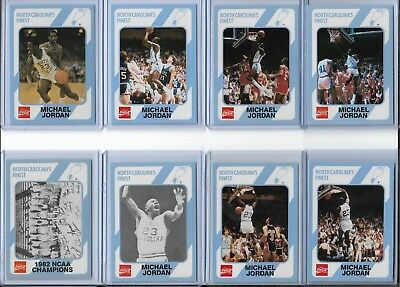 "All (8) 1989 North Carolina Michael ""Air"" Jordan Cards ~ Awesome Collection!!!"