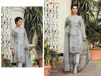 NEW DESIGNER PARTY WEAR PAKISTANI SALWAR KAMEEZ INDIAN BRIDAL WEDDING SUIT fp5