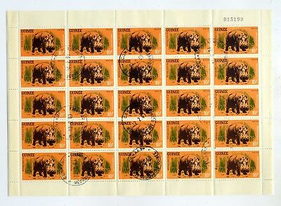 Guinea 1962 SG#326-331 Wild Game missing 25f fine used sheets of 25