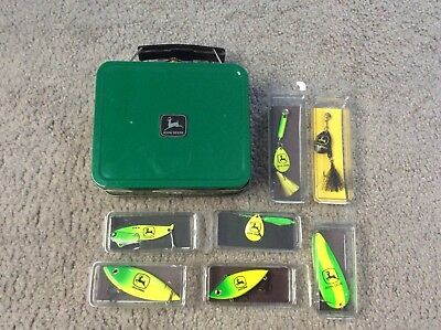 7 JOHN DEERE Fishing Lures in Box ~ New in Packages ~ MADE IN U.S.A.
