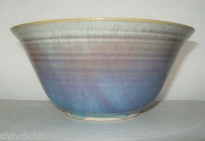 FINE Delicate SIGNED Phyl Lynch PORCELAIN or Pottery BOWL Luscious LAVENDER Blue