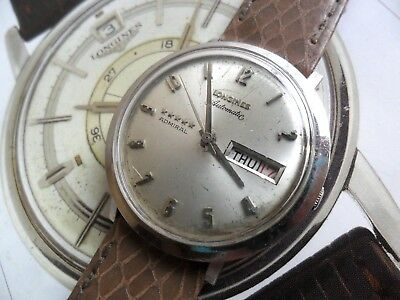 Men's S/S Vintage 1960's Longines 5 Star Admiral Automatic Swiss Watch 4 REPAIR