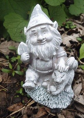 """Latex only small gnome with squirrel mold casting mould 3.5"""" x 2.25"""""""