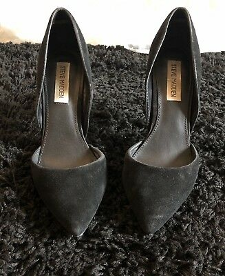 4f5c32852697 Steve Madden Varcityy Heels Shoes 8.5mM Suede Upper Synthetic Sole Pointed  Toe
