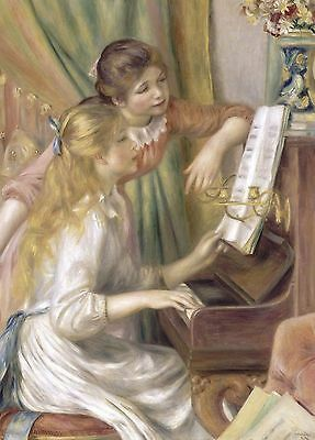 Pierre-Auguste Renoir: Young Girls at the Piano, 1892 - Fine Art Greeting Card