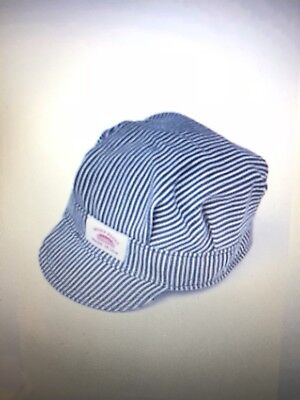 Round House Kids Cap Made in USA Striped Railroad Hat Train Conductor  Engineer d1badc9f9ba9