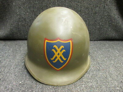 Wwii Us Army M1 Helmet W/ Painted Xx Corps Insignia