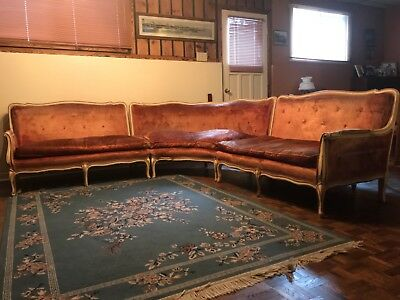 sofa sectional antique french provincial reproduction