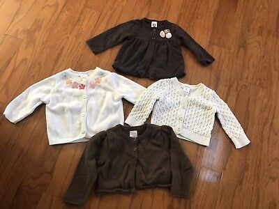 Baby Girl Fall Cardigan Lot Of 4, Size 6 Months, VGUC, Name Brands!