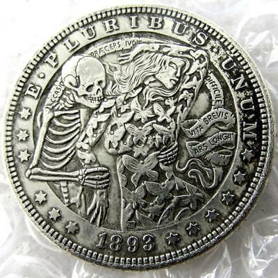 US Morgan Skeleton Zombie Skull Dollar Hobo Fantasy Coin 1878 Vingter Coin Hot