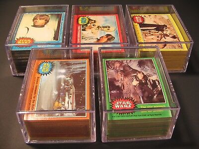 1977 Star Wars Cards ToppsComplete SetSeries 1-5 with Stickers 330/55