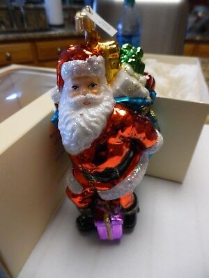Art Studio SANTA w sack of Gifts ORNAMENT original box MADE IN POLAND