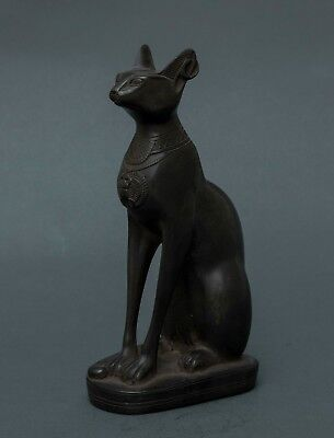 Ancient Egypt Egyptian Antiques Gods Bastet Cat Ubasti Pharaoh Carved Stone BC