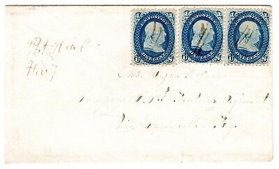 One-Cent 1861 (pair & single), Port William OH to 1st Kentucky Regiment.