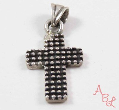 Sterling Silver Vintage 925 Religious Cross Dangle Pendant (4g) - 745309