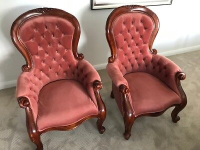 Grandfather chairs - Pair of