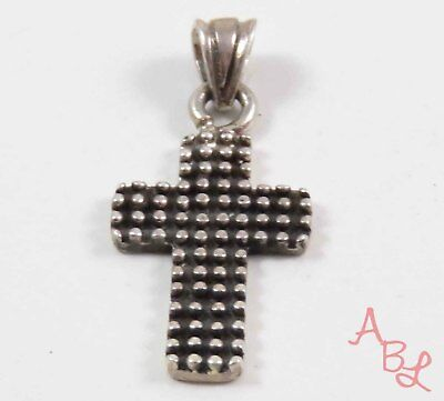 Sterling Silver Vintage 925 Religious Cross Ball Dot Pendant (3.7g) - 745765
