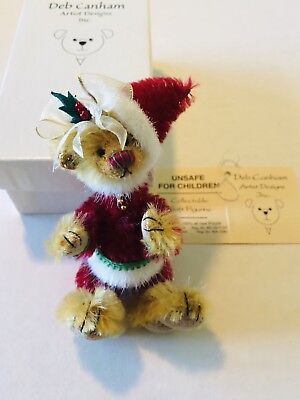 NIB CHRISTMAS ARTIST BEAR DEB CANHAM LITTLE SANTA 23 of 500 LIMITED EDITION