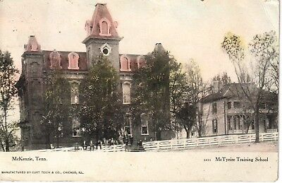 1907 The McTyeire Training School in McKenzie, TN Tennessee PC Very Rare