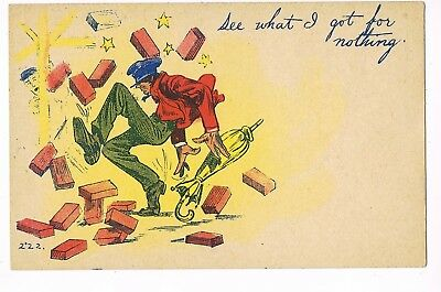 """ANTIQUE COMIC Postcard      """"SEE WHAT I GOT FOR NOTHING"""""""