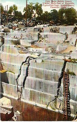 1908 The Grey Eagle Marble Quarry at Knoxville, TN Tennessee PC