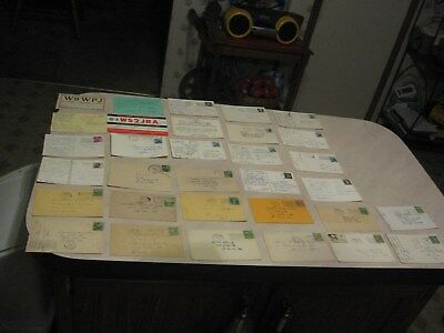 Vintage Lot of 32 All From USA- Ham Radio QSL Postcards-1930's+-most have stamps