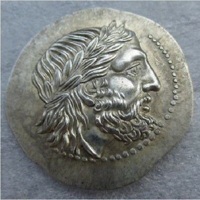 Rare Ancient Greek Silver Tetradrachm Coin of King Philip II of Macedon - 323 BC