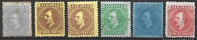 UK & MALAYSIA SARAWAK FIRST SET 1871 2c THINS OTHER VERY FINE UN&USED 2 SCANS