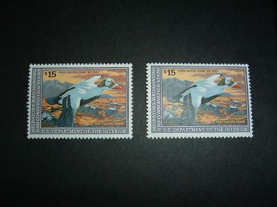 Two 1992 United States Federal Duck Migratory Bird Stamp RW59 Mint NH Orig. Gum