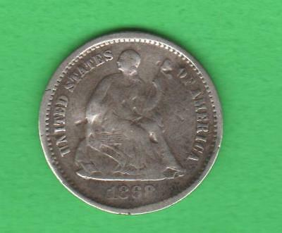 1868-S Silver Half Dime-Extremely Rare-Only 280,000 Minted