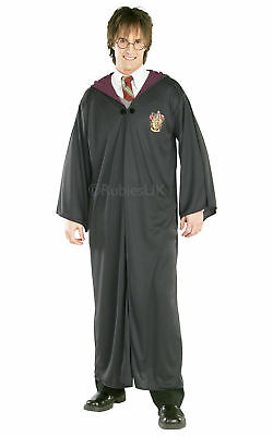 "Harry Potter Costume Adults Gryffindor Black Hooded Robe- 42"" Chest"