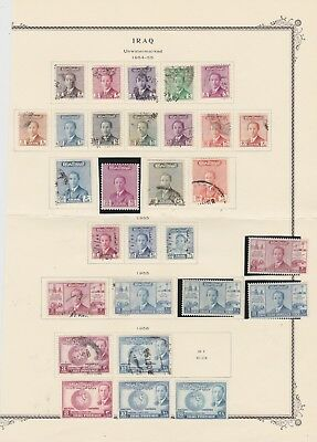 Iraq 1954-56 collection M/Mint,used and MNH