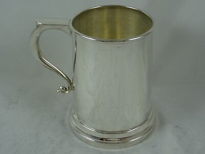 QUALITY, solid silver PINT TANKARD, 1974, 291gm