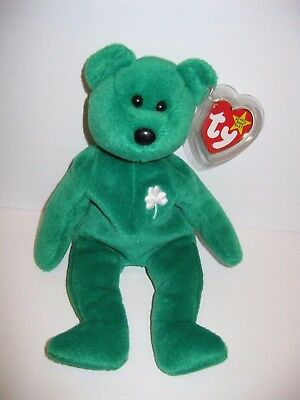 Ty Beanie Baby Erin Bear Plush Stuffed Animal Retired W Tag March 17 1997 fe08797f0843