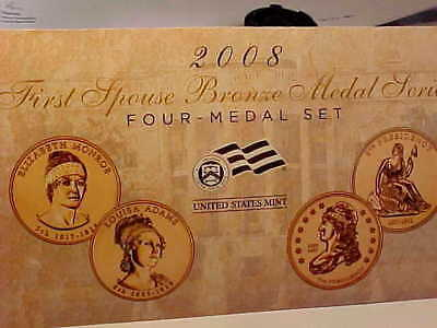 2008 First Spouse Bronze Series Four-Medal U.S. Mint Set