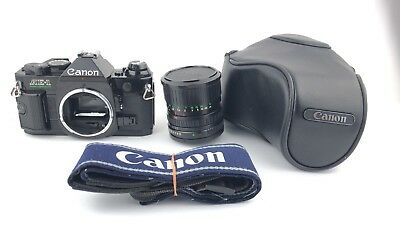 """""""AS-IS"""" Canon AE-1 Program Black & Canon Zoom Lens FD 35-70mm 1:3.5-4.5 Japan"""
