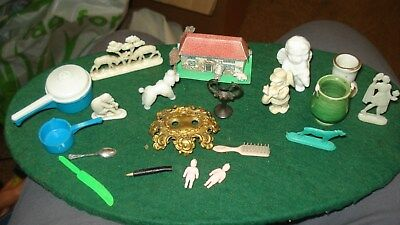 Dolls house bits and pieces,some vintage.
