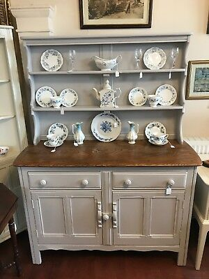 Vintage Ercol Welsh Dresser - Grey- Shabby Chic - Delivery Available -  SC248