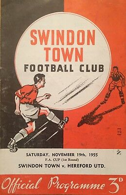 Swindon Town v Hereford United  F A Cup  1955/56