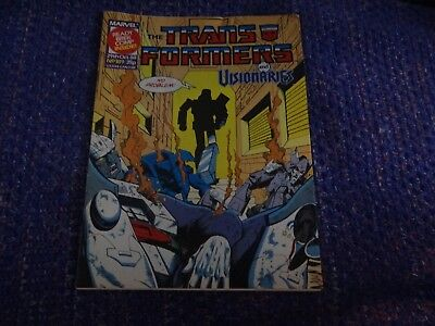 Marvel Transformers and Visionaries Comic #189 29th October 1988