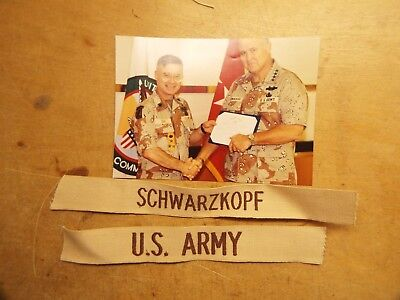From The Estate Of Major General John A. Leide ,gen.schwarzkopf Name With Photo