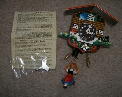 Austrian cuckoo clock Not Working for spares or repair with instructions & key