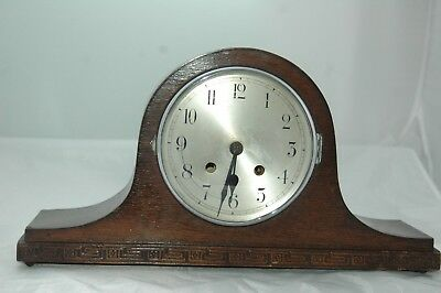 Antique / Vintage Napoleon Hat Oak Mantle Clock To Restore