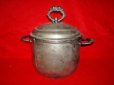 Vintage Leonard English Silver Porcelain Lined Champagne Ice Bucket Chamber Pot
