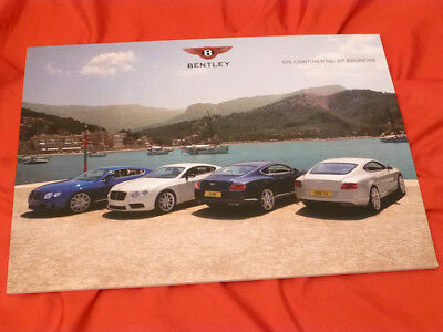 2014  BENTLEY Continental GT Range V8 S W12 Speed GTC GT3 Prospekt Brochure