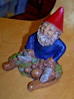 "Tom Clark Gnome Rare ""Lucky"" on HorseshoeOriginal Signature figurine 1982"