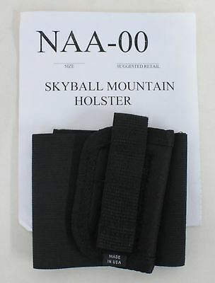 NEW SKYBALL MOUNTAIN HOLSTER Black Right Hand Ankle Gun Nylon Holster NAA PUG